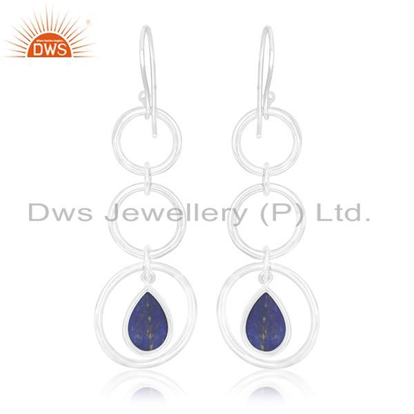 Suppliers Private Label Lapis Lazuli Gemstone Sterling Silver Earring Jewelry Manufacturer