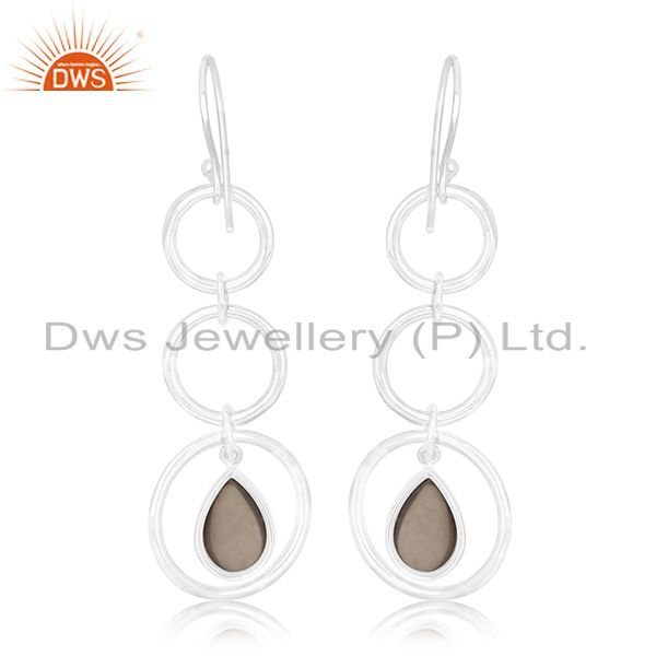 Suppliers Smoky Quartz Designer Sterling Silver Customized Earring Manufacturer From India