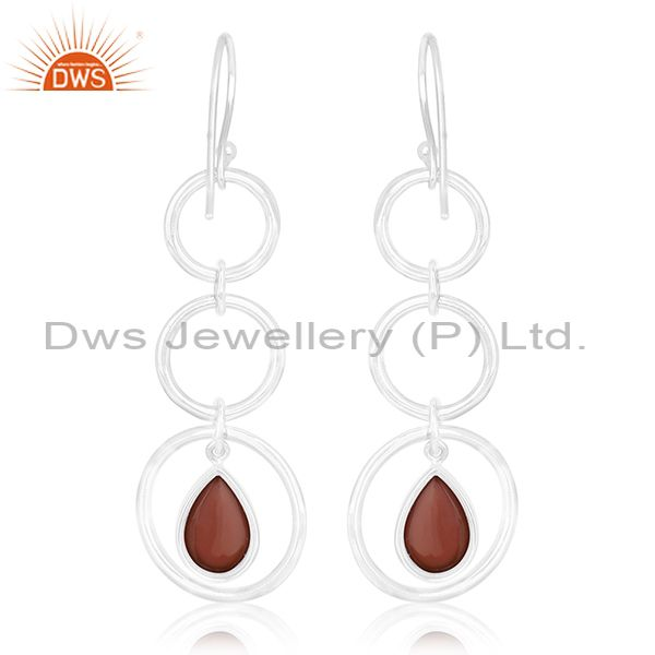 Suppliers Natural Gemstone 92.5 Sterling Silver Earring Jewelry Manufacturer for Retailers