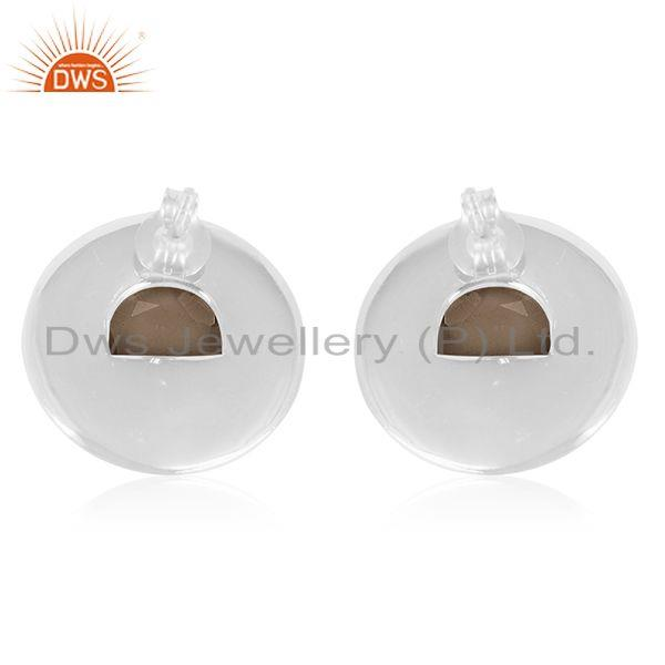 Suppliers Handmade 925 Sterling Silver Round Stud Earrings Wholesale Suppliers