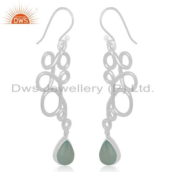Suppliers Handmade 925 Sterling Silver Gemstone Dangle Earring Manufacturer Jaipur india