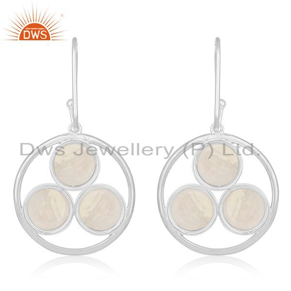 Suppliers Crystal Quartz Handmade 925 Sterling Silver Custom Earring Jewelry Manufacturer