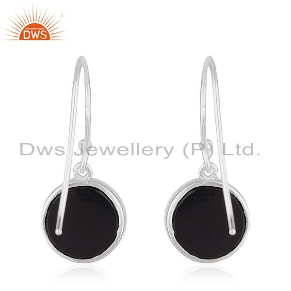 Suppliers 92.5 Sterling Fine Silver Onyx Gemstone Peace Sign Earring Manufacturer