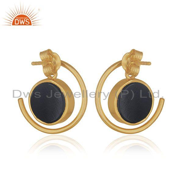 Suppliers Customized Peace Charm 92.5 Sterling Silver Gemstone Earrings Manufacturer India