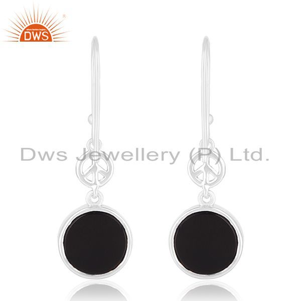 Suppliers Fine Sterling 92.5 Silver Private Label Peace Design Earring Manufacturer India