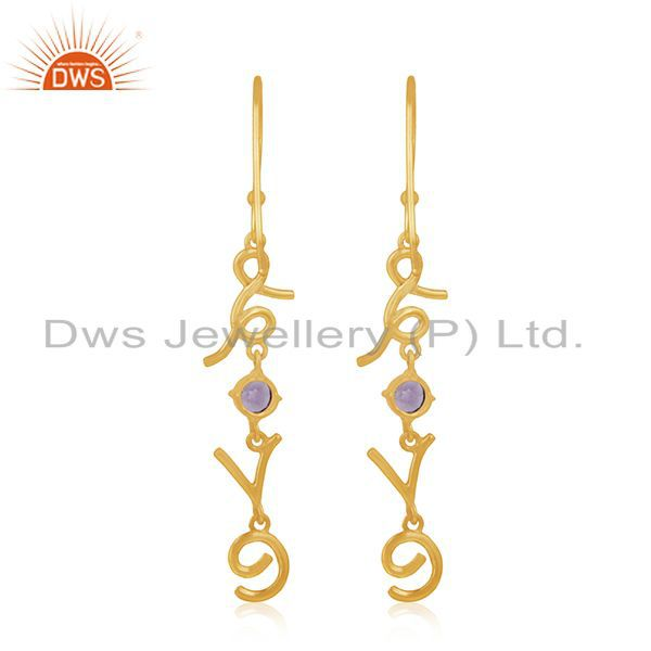 Suppliers Custom Love Intial Silver Earring Jewelry Manufacturer for Designers From India