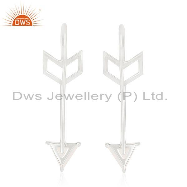 Suppliers Fine Sterling Silver Arrow Design Natural Gemstone Custom Earring Manufacturer