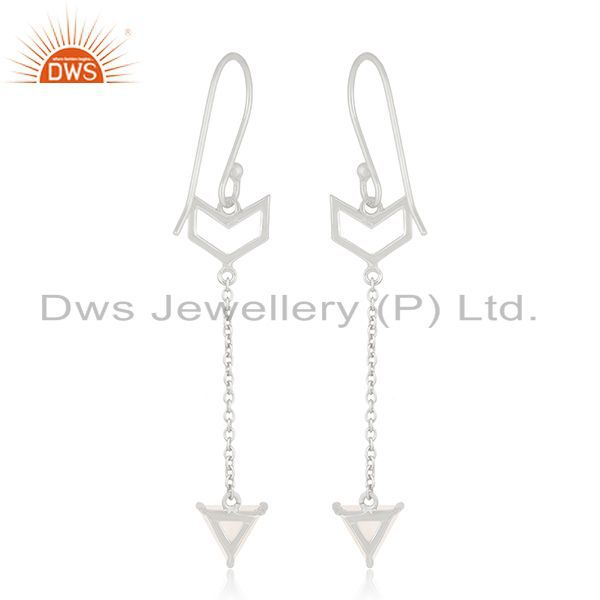 Suppliers Arrow Shape 92.5 Sterling Silver Customized Earring Jewelry Manufacturers