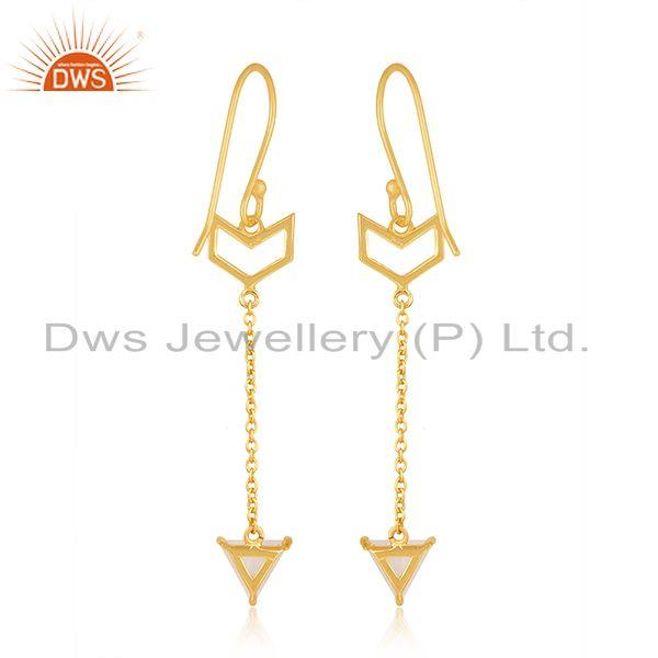 Suppliers Gold Plated Sterling Silver Arrow Design Custom Earring Manufacturer India