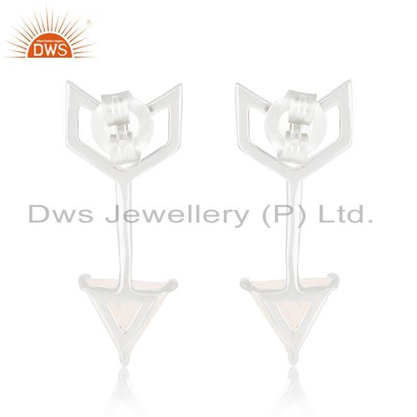 Suppliers New Arrival Arrow Design 925 Silver Moonstone Rainbow Earring Jewelry Suppliers