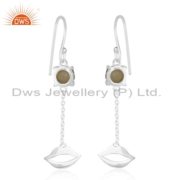 Suppliers Lip Design 925 Sterling Silver Citrine Gemstone Earrings Wholesale Suppliers