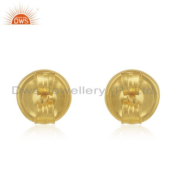 Suppliers Gold Plated 925 Silver White Druzy Stud Earring Wholesale Supplier