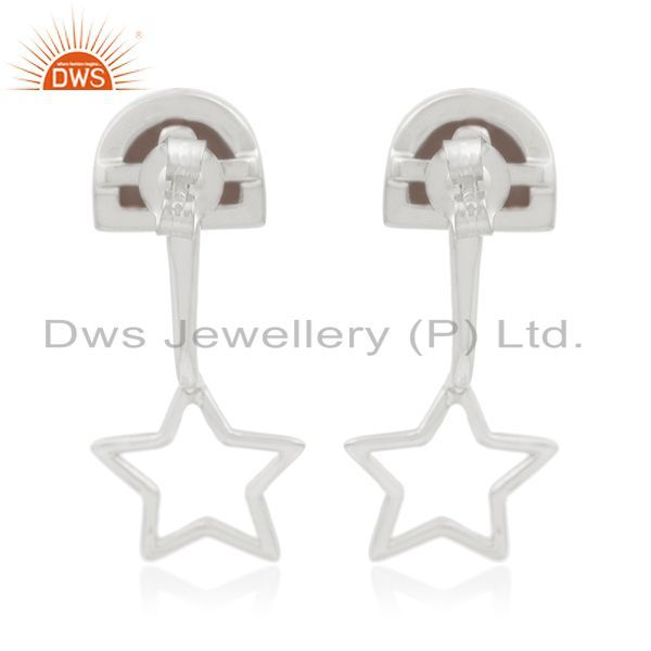 Suppliers Star Charm 925 Sterling Fine Silver Tiger Eye Gemstone Earring Manufacturers