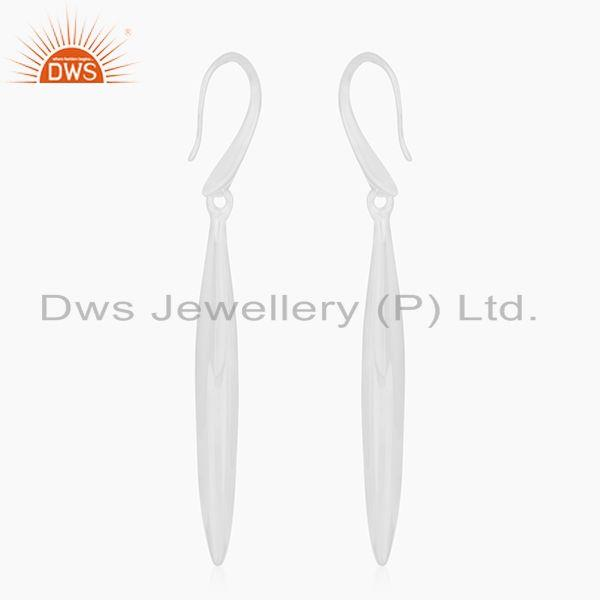 Suppliers Solid 92.5 Sterling Silver Handmade Earrings For Girls Jewelry Manufacturer