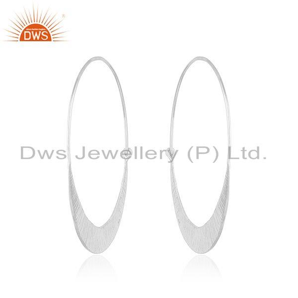 Suppliers Handmade 925 Sterling Silver Hoop Earrings Jewelry Manufacturer of Custom Design