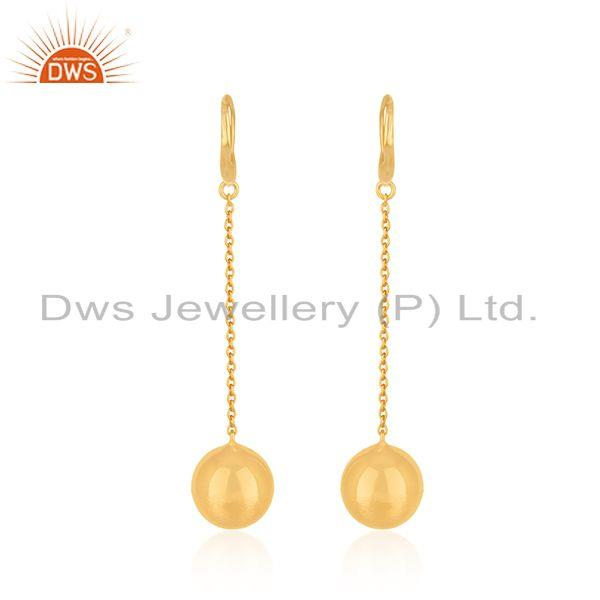 Suppliers Handmade Gold Plated Silver Chain Earrings Jewelry Manufacturer