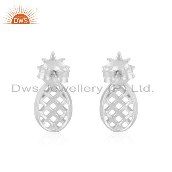 Suppliers Customized 925 Sterling Silver Pineapple Stud Earrings Manufacturer of Jewellery