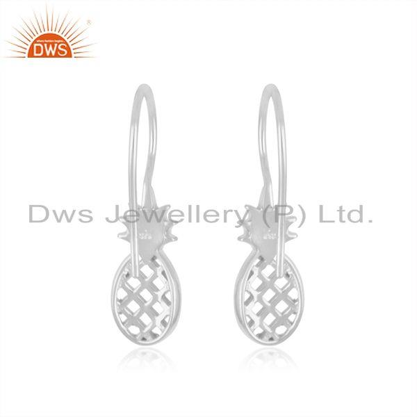 Suppliers Pineapple Design Fine Sterling Silver Earring for Girls Jewelry Wholesal