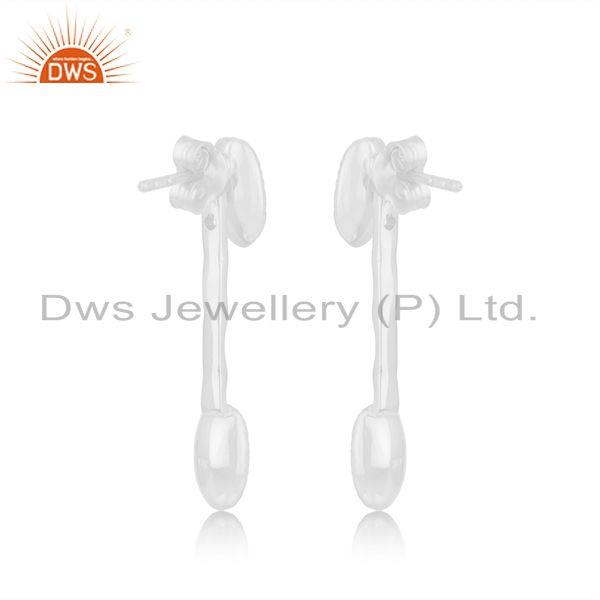 Suppliers Designer 925 Sterling Fine Silver Earring Jewellery Manufacturer in Jaipur