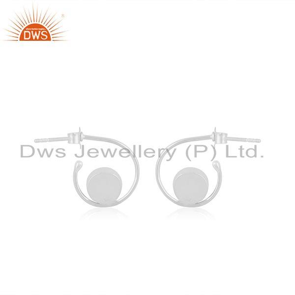 Suppliers Natural Labradorite Gemstone Fine Sterling Silver Hoop Earring Manufacturer