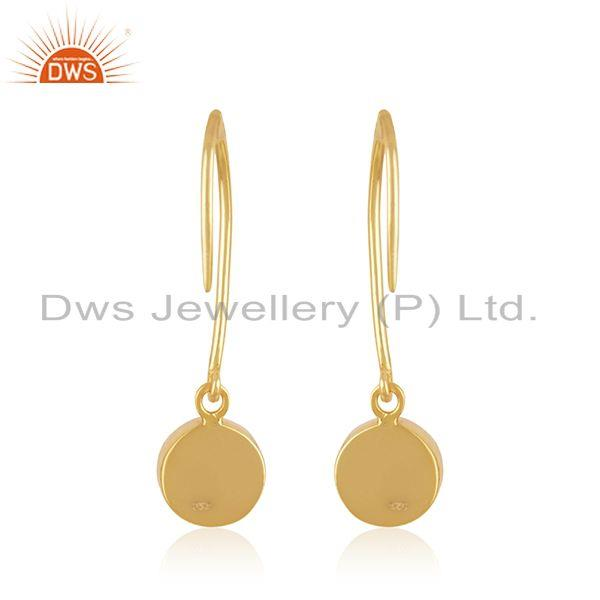 Suppliers Red Onyx Gemstone Sterling Silver Gold Plated Simple Earring Manufacturer Jaipur