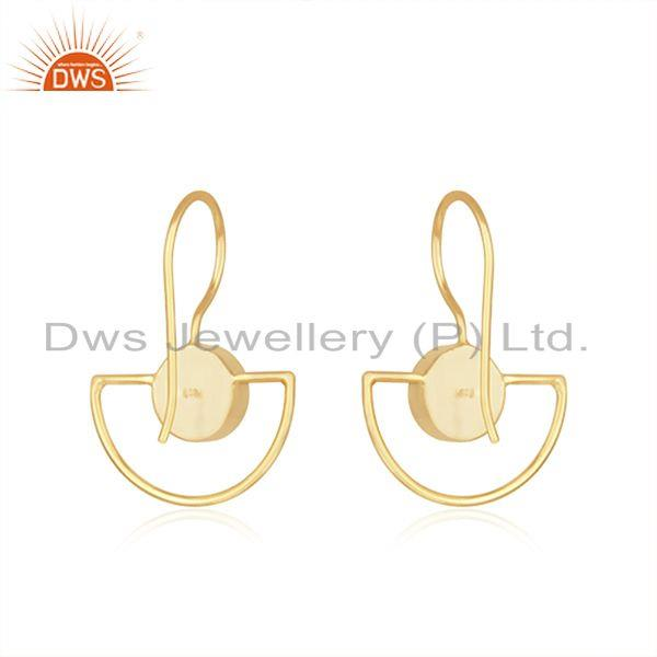 Suppliers Labradorite Gemstone Gold Plated Sterling Silver Earring Manufacturer of Jewelry