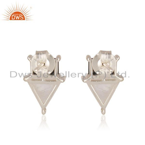 Suppliers Natural Multi Gemstone Fine 925 Sterling Silver Stud Earring Wholesale