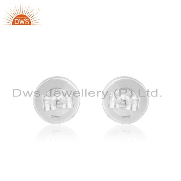 Suppliers Round Fine Sterling Silver Black Onyx Stud Earring Manufacturer