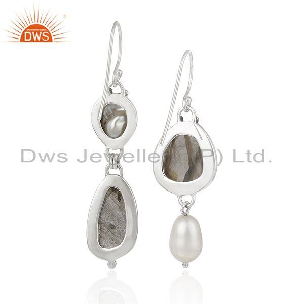 Suppliers Natural Multi Gemstone New Arrival Sterling Fine Silver Earrings
