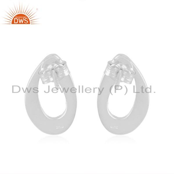 Suppliers Wholesale 925 Sterling Fine Silver Texture Earrings Jewelry For Womens