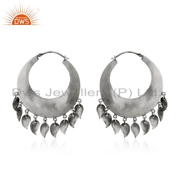Suppliers New Antique Design Sterling Silver Oxidized Design Earrings Jewelry