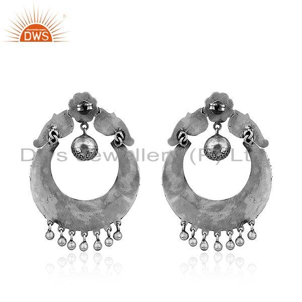 Suppliers Antique Chand Bali Sterling Silver Oxidized Womens Earrings Jewelry