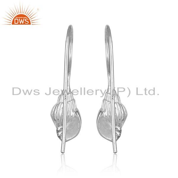 Designer of Hadmade conch design 925 sterling fine silver earrings jewelry