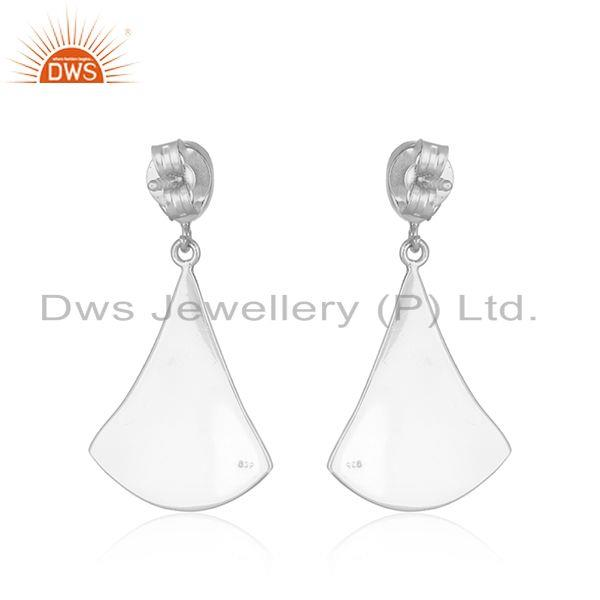 Suppliers Longing Texture Fine Silver Ethiopian Gemstone Earrings Jewelry