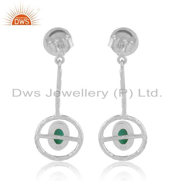 Designer of Womens 925 sterling fine silver arizona turquoise gemstone earrings