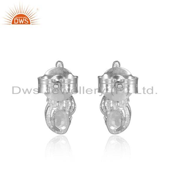Designer of Conch design 925 sterling fine silver womens stud earring jewelry