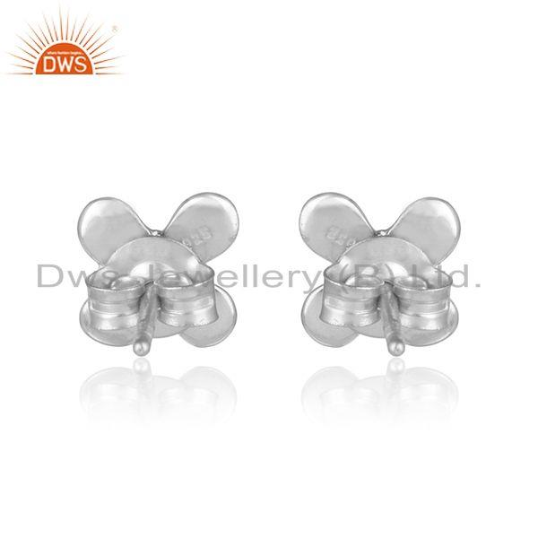 Designer of Designer handcrafted earring in sterling silver 925 with pearl