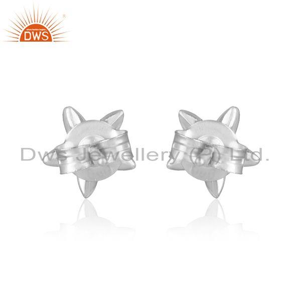 Designer of Designer leaves earring in solid silver 925 with exquisite pearl