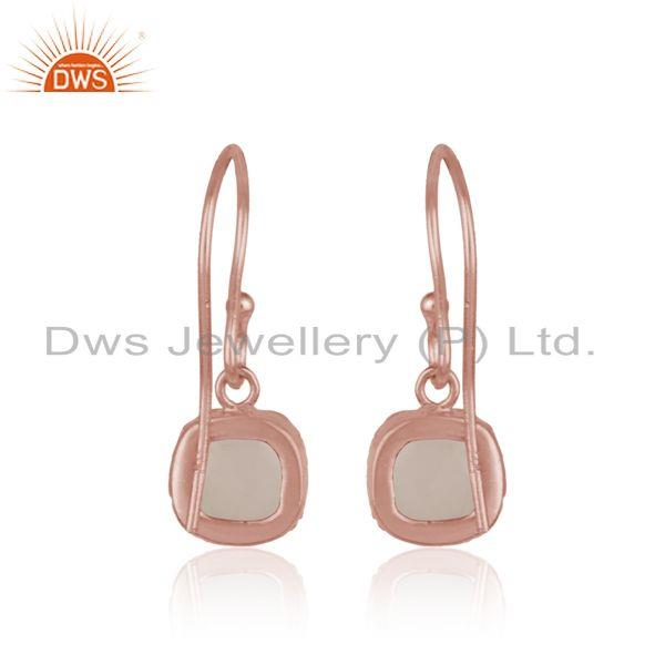 Designer of Handmade dangle in rose gold on silver with rose quartz