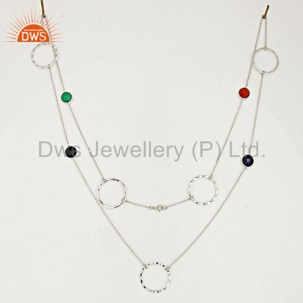 Suppliers Handmade Gemstone 925 Sterling Fine Silver Necklace Jewelry Supplier