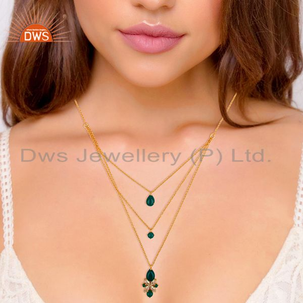Suppliers Handmade 925 Silver Gold Plated Chain Pendant Necklace Wholesale