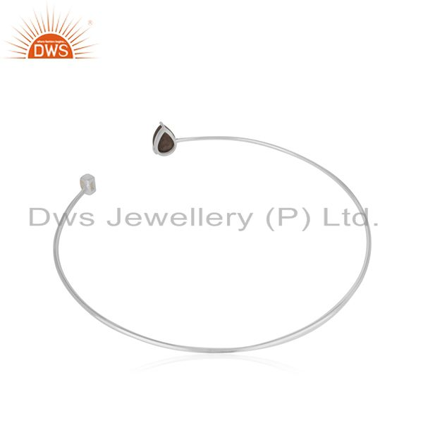 Suppliers Solid 925 Sterling Silver Customized Cuff Bracelet Manufacturers