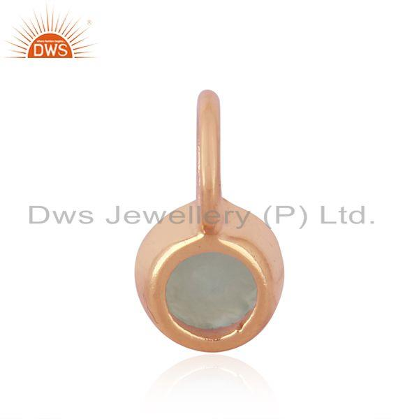 Suppliers Rose Gold Plated 925 Sterling Silver Handmade Gemstone Pendant