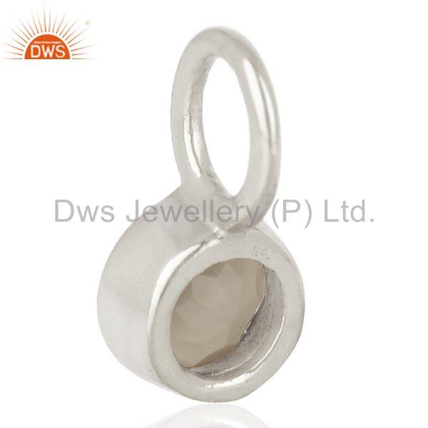 Suppliers Gray Chalcedony Sterling Silver Silver Plated Connector Pendant Gemstone Jewelry