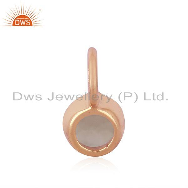 Suppliers Chalcedony Gemstone Rose Gold Plated 925 Sterling Silver Pendant
