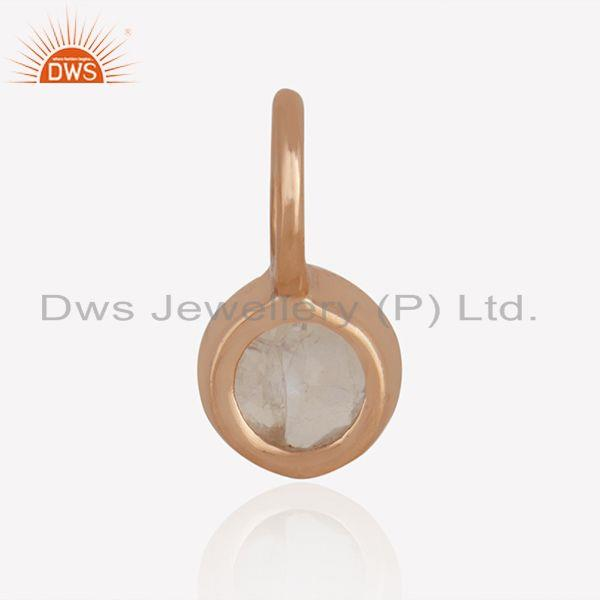 Suppliers Rainbow Moonstone Rose Gold Plated 925 Silver Jewelry Findings Manufacturer