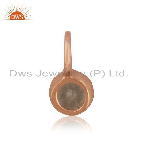 Suppliers Rose Gold Plated Silver White Topaz Gemstone Pendant Jewelry