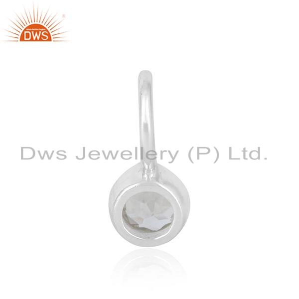 Suppliers Without Chain Sterling Fine Silver White Topa Gemstone Pendant Jewelry