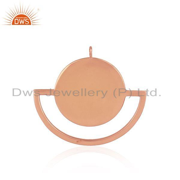 Suppliers Mother of Pearl Sun & Moon Design Rose Gold Plated Silver Pendant