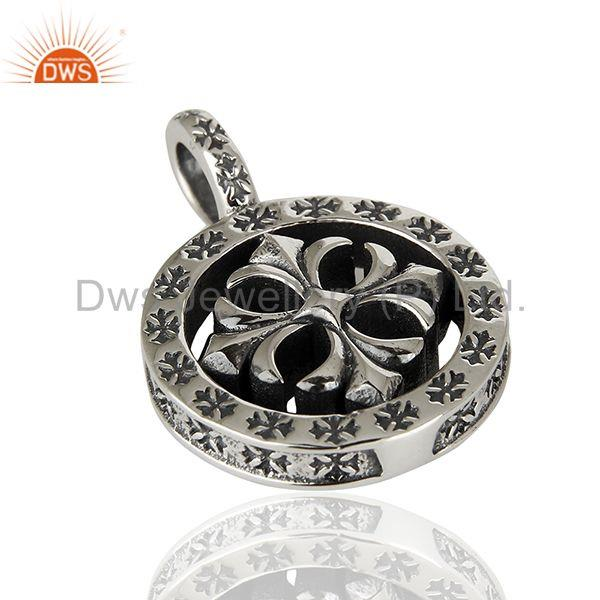 Suppliers Ch Plus Medallion 925 Sterling Silver Oxodized Pendant Wholesale Jewelry